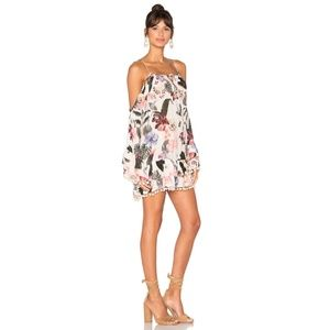 L+F Tropical Oasis Dress Cold Off Shoulder Cut-Out